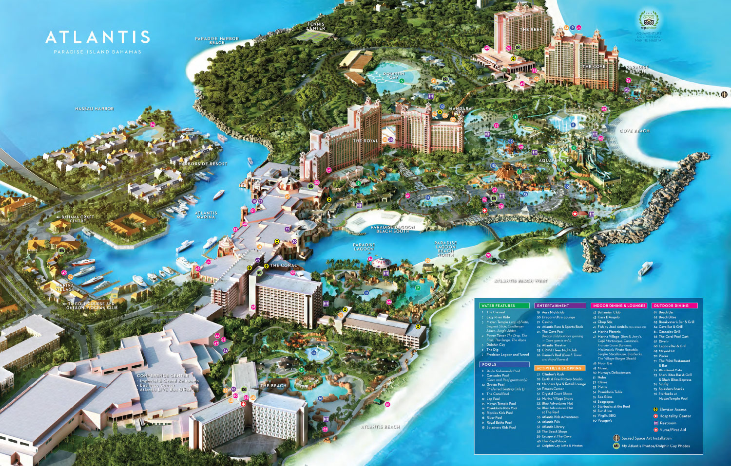 Atlantis Resort Map Interactive Map of the Paradise Island Resort & Casino